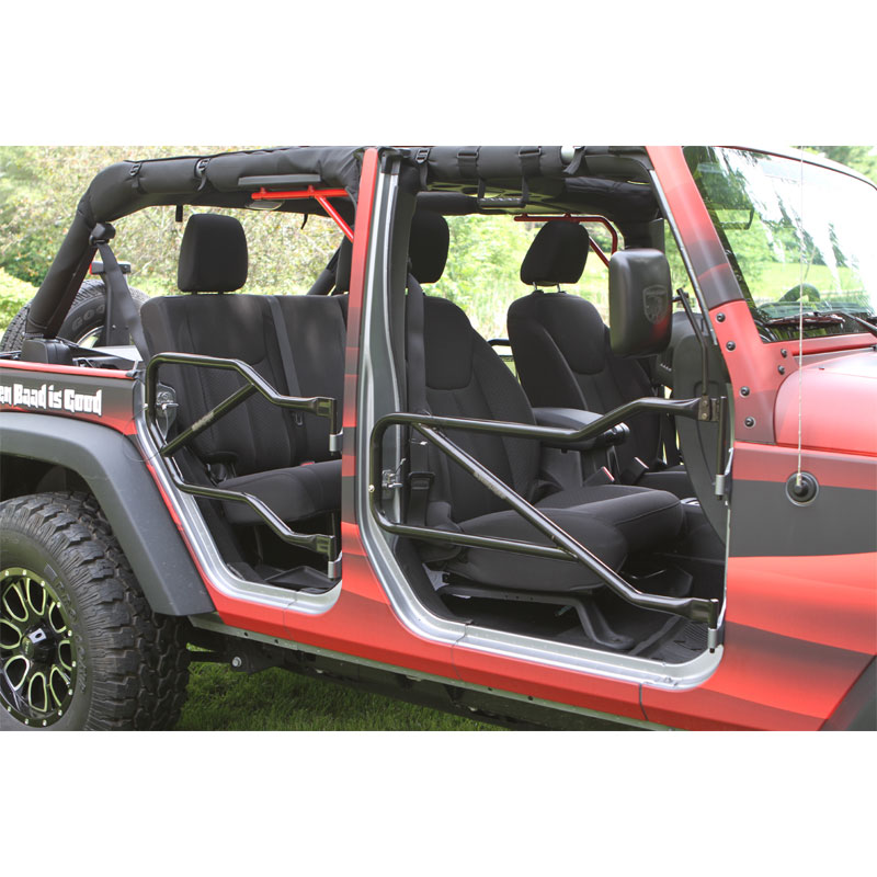 Front and Rear Tube Door Kit, 07-18 Wranglers 4 Doors