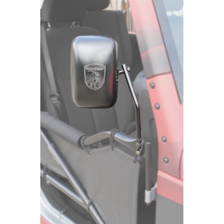 Tube Door Side Mirror Kit, 07-16 Wranglers