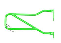 Jeep JK Wrangler Front Tube Doors Neon Green