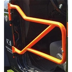 Jeep JK Wrangler Front Tube Doors Fluorescent Orange