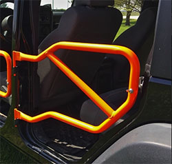 Jeep JK Wrangler Rear Tube Doors Fluorescent Orange