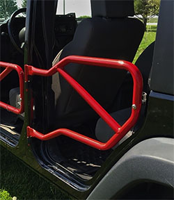 Jeep JK Wrangler Rear Tube Doors Red Baron