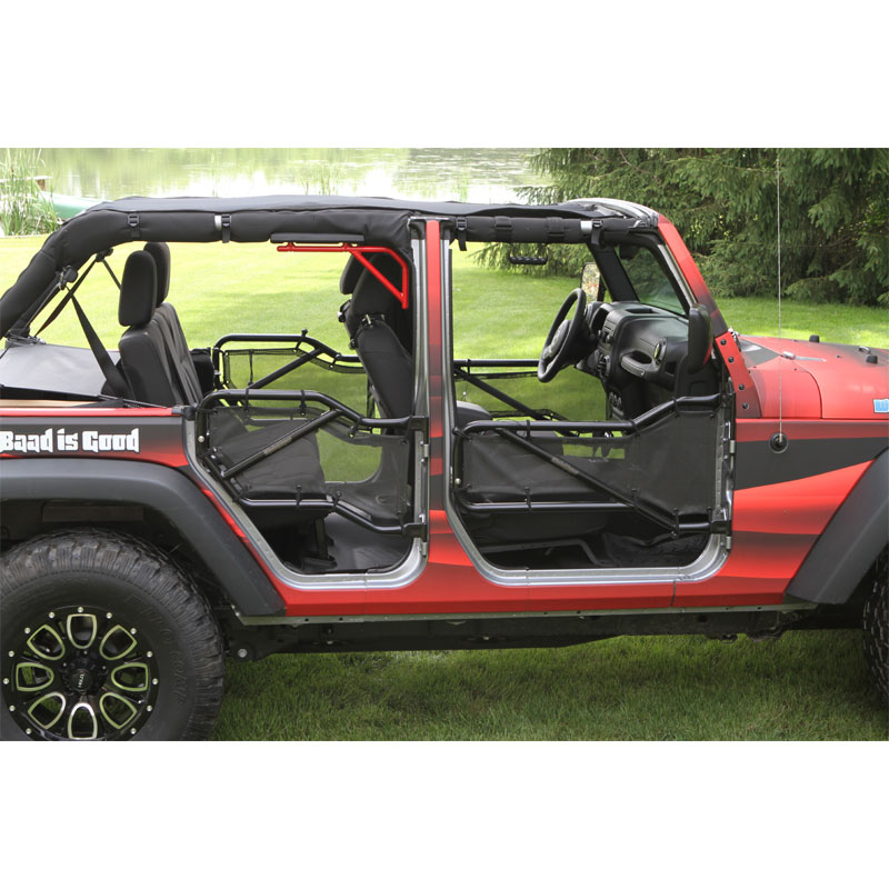 Tube Door Cover Kit, Front and Rear Pair, 07-16 Wranglers 4 Door