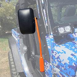 Jeep JK Wrangler Door Mirror Kit Fluorescent Orange