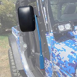Jeep JK Wrangler Door Mirror Kit Playboy Blue