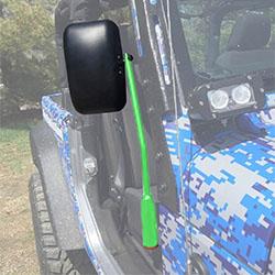 Jeep JK Wrangler Door Mirror Kit Neon Green