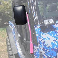 Jeep JK Wrangler Door Mirror Kit Pinky