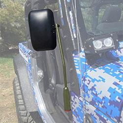 Jeep JK Wrangler Door Mirror Kit Locas Green