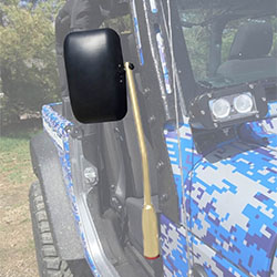 Jeep JK Wrangler Door Mirror Kit Military Beige