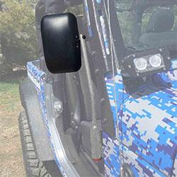 Jeep JK Wrangler Door Mirror Kit Gray Hammertone