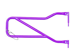 Jeep JK Wrangler Front Tube Doors Sinbad Purple