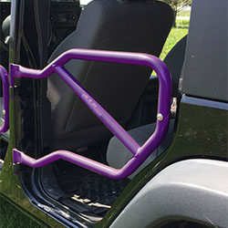 Jeep JK Wrangler Rear Tube Doors Sinbad Purple
