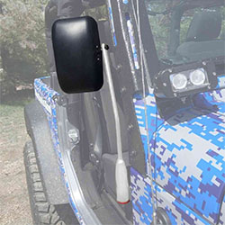 Jeep JK Wrangler Door Mirror Kit Cloud White