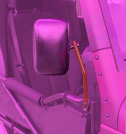 Jeep JK Wrangler Trail Door Mirrors Fluorescent Orange