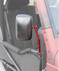 Jeep JK Wrangler Trail Door Mirrors Red Baron