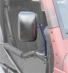 Jeep JK Wrangler Trail Door Mirrors Southwest Blue