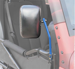 Jeep JK Wrangler Trail Door Mirrors Playboy Blue