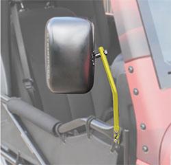 Jeep JK Wrangler Trail Door Mirrors Lemon Peel