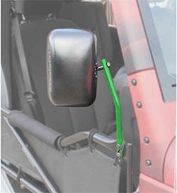 Jeep JK Wrangler Trail Door Mirrors Neon Green