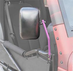 Jeep JK Wrangler Trail Door Mirrors Pinky