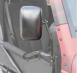 Jeep JK Wrangler Trail Door Mirrors Locas Green