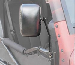 Jeep JK Wrangler Trail Door Mirrors Textured Black