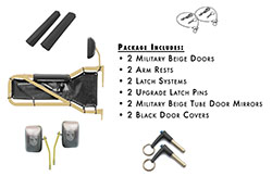 Jeep JK Wrangler Trail Door Kit Beige with Black Covers