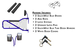 Jeep JK Wrangler Trail Door Kit Blue with White Covers