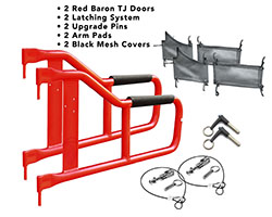 1997-2006 Jeep TJ Wrangler Trail Door Kit Red Baron