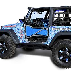 Jeep Wrangler JK 2 Doors Rock Sliders Black