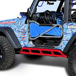 Jeep Wrangler JK 2 Doors Rock Sliders Red Baron