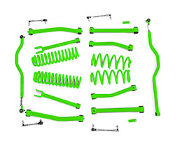 4.0 inch Lift Kit Neon Green Jeep JK Wrangler