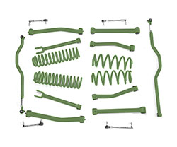4.0 inch Lift Kit Locas Green Jeep JK Wrangler
