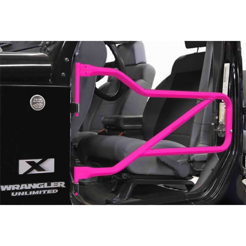 Jeep JK Wrangler Front Tube Door Kit Pink