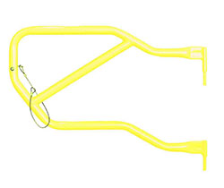 Jeep JK Wrangler Rear Tube Doors Neon Yellow