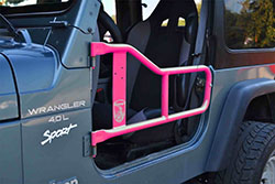 Jeep TJ Wrangler Tube Doors Hot Pink