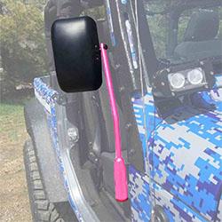 Jeep JK Wrangler Door Mirror Kit Hot Pink