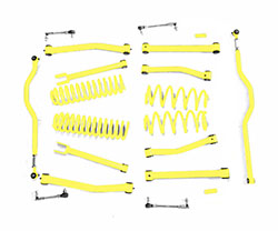 4.0 inch Lift Kit Neon Yellow Jeep JK Wrangler