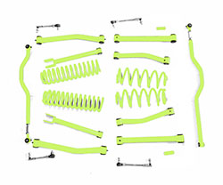 4.0 inch Lift Kit Gecko Green Jeep JK Wrangler