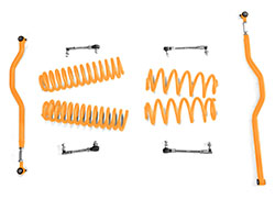 2.5 inch Basic Lift Kit Jeep JK Wranglers Fluorescent Orange