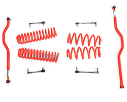 2.5 inch Basic Lift Kit Jeep JK Wranglers Red Baron