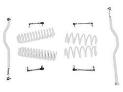 2.5 inch Basic Lift Kit Jeep JK Wranglers Cloud White