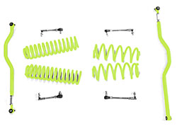 2.5 inch Basic Lift Kit Jeep JK Wranglers Gecko Green