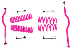 2.5 inch Basic Lift Kit Jeep JK Wranglers Hot Pink