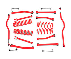 2.5 inch Lift Kit Red Jeep JK Wrangler