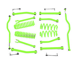 2.5 inch Lift Kit Neon Green Jeep JK Wrangler