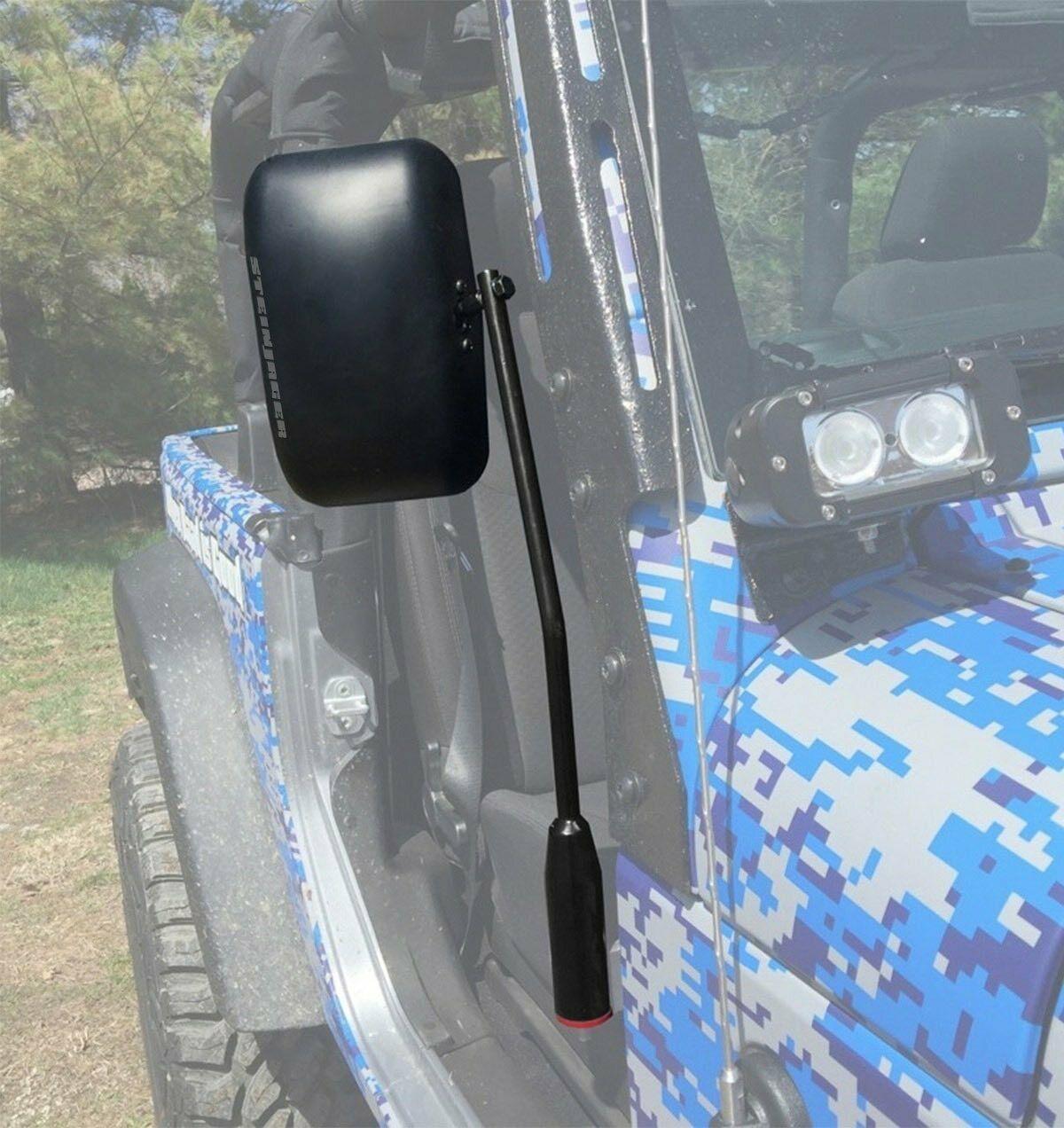 Jeep JL Wrangler Door Mirror Kit Black