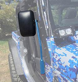 Jeep JL Wrangler Door Mirror Kit Playboy Blue