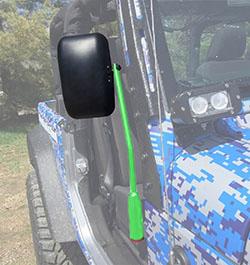 Jeep JL Wrangler Door Mirror Kit Neon Green