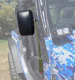Jeep JL Wrangler Door Mirror Kit Locas Green